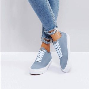 Maison kitsuné laced light blue sneakers